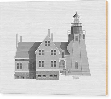 Block Island South East Rhode Island Wood Print by Anne Norskog