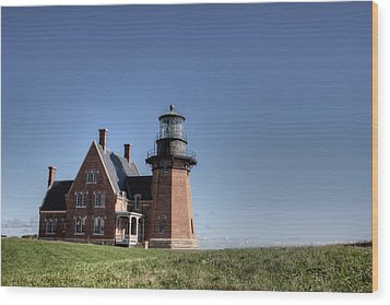 Block Island  Southeast Light Wood Print by Steve Gravano