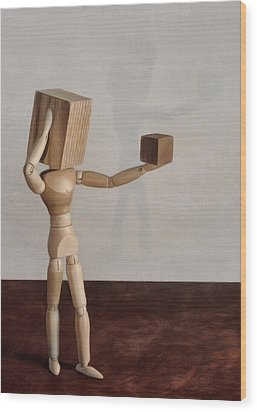 Blockhead Wood Print by Mark Fuller