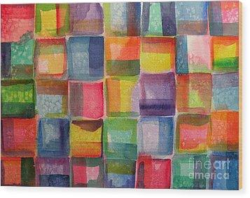 Blocks II Wood Print by Holly York