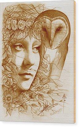 Blodeuwedd Wood Print by Yuri Leitch
