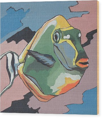 Blond Naso Tang Wood Print by Sandy Tracey