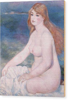 Blonde Bather II Wood Print by Renoir