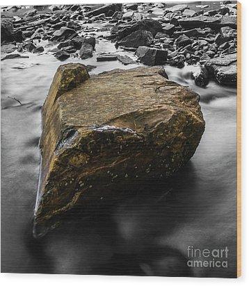 Blonde Rock Wood Print