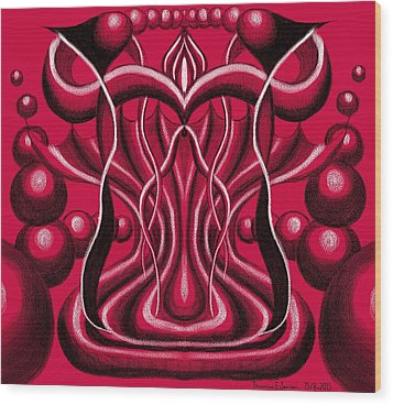Blood Altar. Wood Print