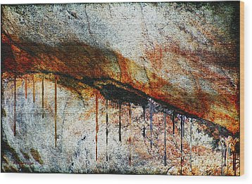 Blood From A Stone Wood Print by RC deWinter