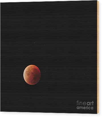 Blood Moon Wood Print by Angelo DeVal