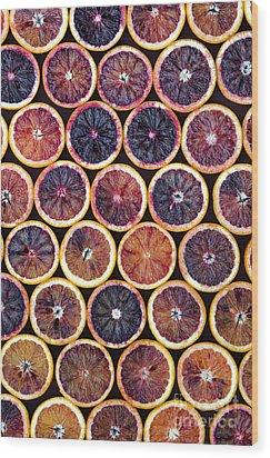 Blood Oranges Pattern Wood Print