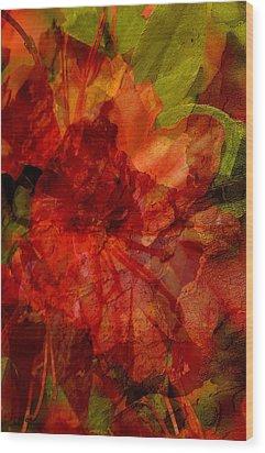 Blood Rose Wood Print by Tom Romeo