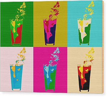 Bloody Mary Pop Art Panels Wood Print by Dan Sproul