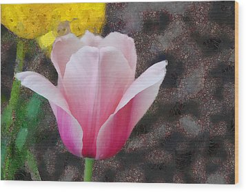 Wood Print featuring the mixed media Bloomin' by Trish Tritz