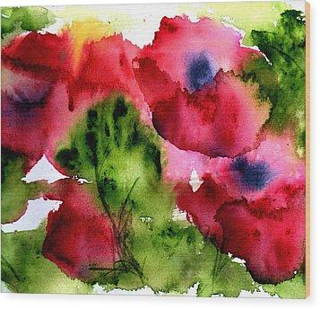 Blooming Wood Print by Anne Duke