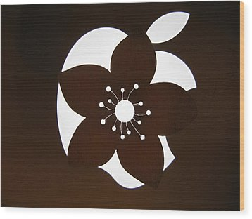 Blooming Apple Mac Wood Print