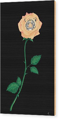 Blooming Bengal Wood Print