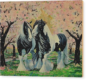 Blooming Gypsies Wood Print