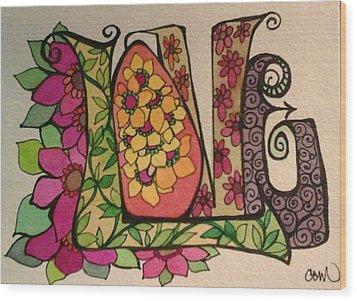 Blooming Love Wood Print by Claudia Cole Meek
