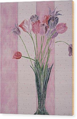 Blooming Tulip Colors Wood Print