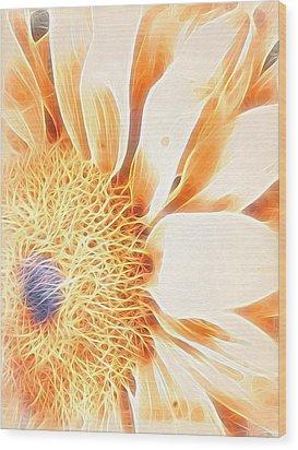 Bloomlit Wood Print
