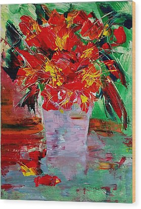 Blooms Wood Print