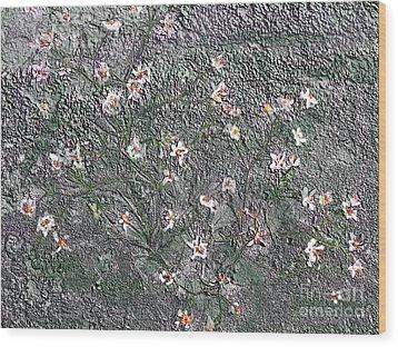 Blooms In Stone Wood Print