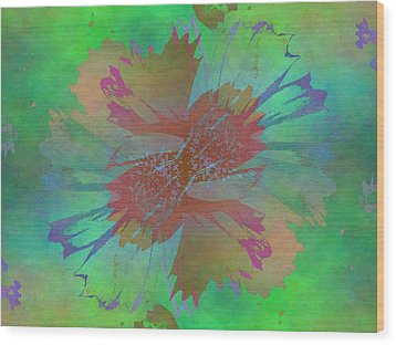 Blooms In The Mist Wood Print by Tim Allen