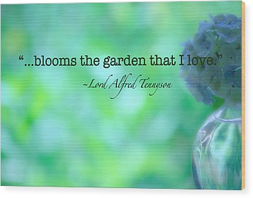 Blooms The Garden Wood Print by Bonnie Bruno