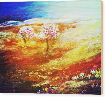 Blossom Dawn Wood Print by Winsome Gunning