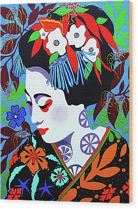 Blossom Wood Print by Debbie Chamberlin