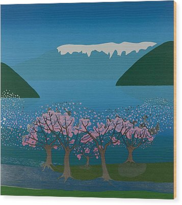 Blossom In The Hardanger Fjord Wood Print by Jarle Rosseland
