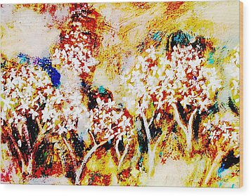 Wood Print featuring the painting Blossom Morning by Winsome Gunning