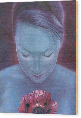 Blossom Wood Print by Ragen Mendenhall