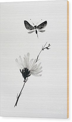 Blossomfly Wood Print by Sibby S
