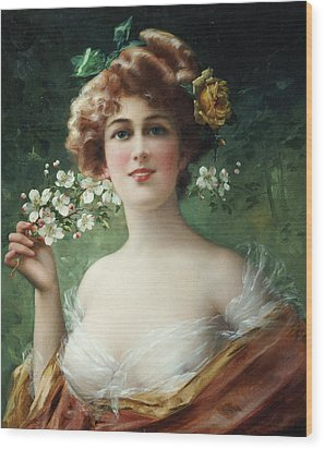 Blossoming Beauty Wood Print by Emile Vernon