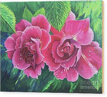 Blossum Buddies Wood Print