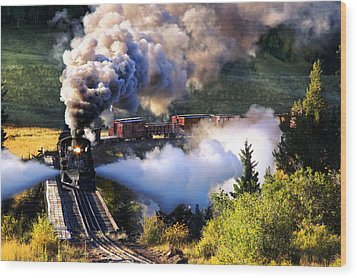 Wood Print featuring the photograph Blowdown On Lobato Trestle by Ken Smith