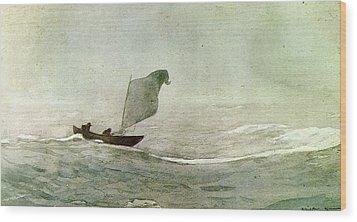 Blowen Away Wood Print by Winslow Homer