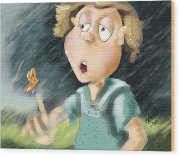 Blowing In The Wind Wood Print by Hank Nunes