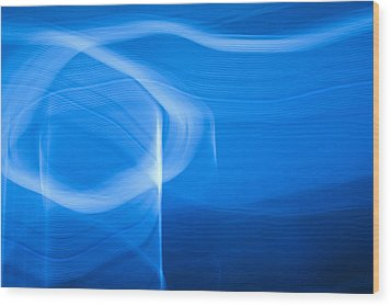 Blue Abstract 2 Wood Print by Mark Weaver