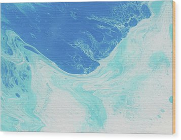 Wood Print featuring the painting Blue Abyss by Nikki Marie Smith