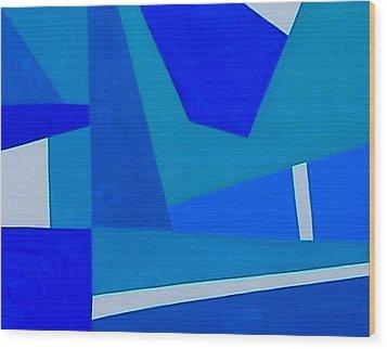 Blue Alert Detail 1 Wood Print by Dick Sauer