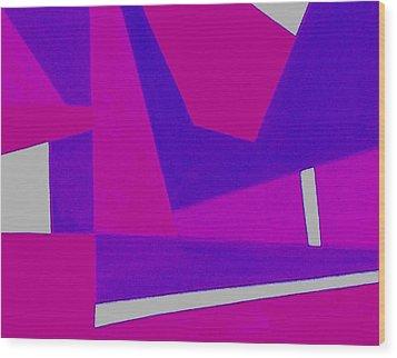 Blue Alert Detail 2 Wood Print by Dick Sauer