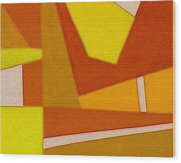 Blue Alert Detail 3 Wood Print by Dick Sauer