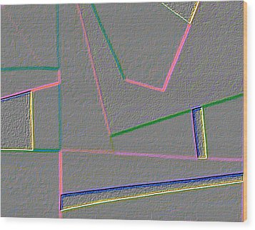 Blue Alert Detail 4 Wood Print by Dick Sauer