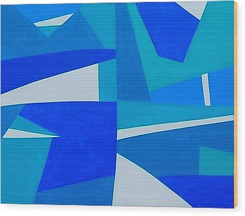 Blue Alet Wood Print by Dick Sauer
