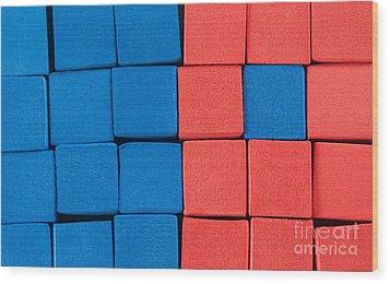 Blue And Orange Wood Print by Dan Holm