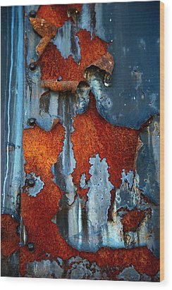 Wood Print featuring the photograph Blue And Rust by Karol Livote