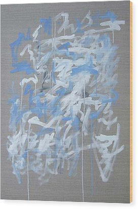 Blue And White Composition Wood Print by Michael Henderson