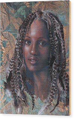 Blue Angel Wood Print by Gary Williams