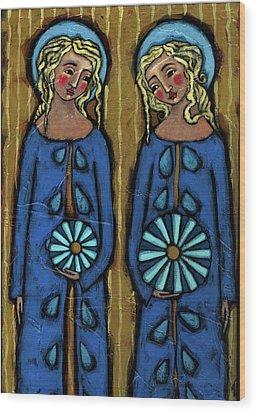 Blue Angels Wood Print by Julie-Ann Bowden