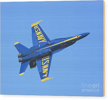 Blue Angels No.4 Wood Print by Wingsdomain Art and Photography